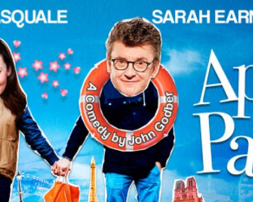 Joe Pasquale and Sarah Earnshaw holding hands while Joe sports an orange and white safety ring